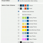 Colour Scheme and Theme selection in Your Profile