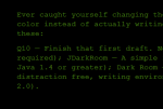 Screenshot of a fullscreen text editor Q10