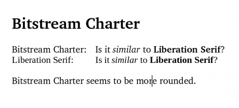 Bitstream Charter vs. Liberation Serif