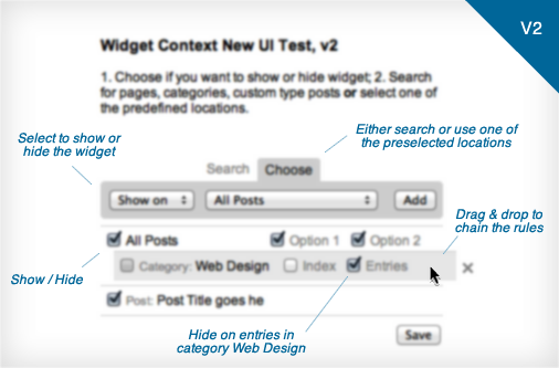 Widget Context UI Update, Version 2