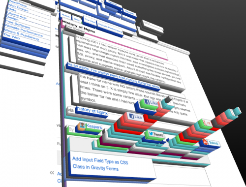 3D DOM element inspector in Firefox and social sharing buttons