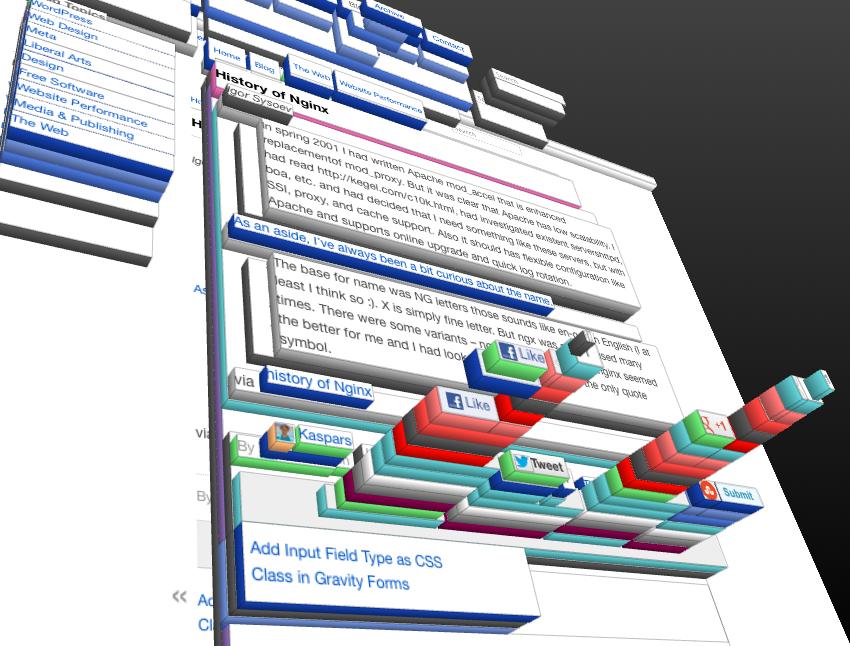 3D DOM Element Inspector in Firefox (Development) — Kaspars