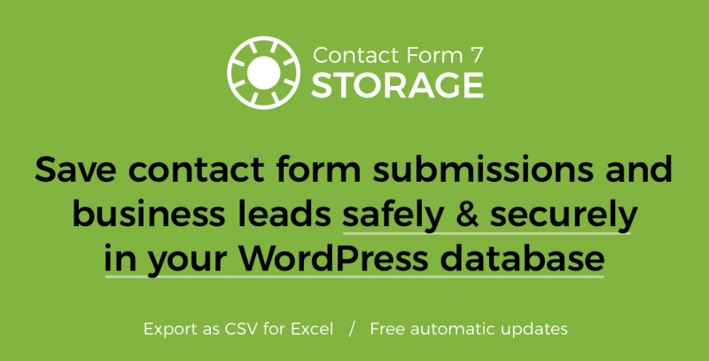 Storage for Contact Form 7 plugin