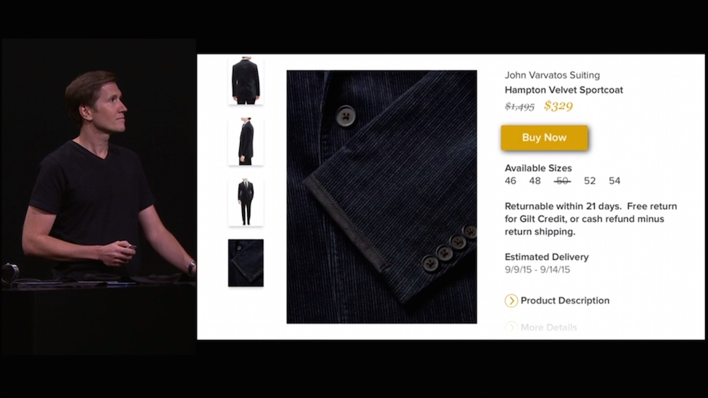 Buy now button on the single product page