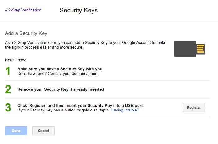 U2F Add Key
