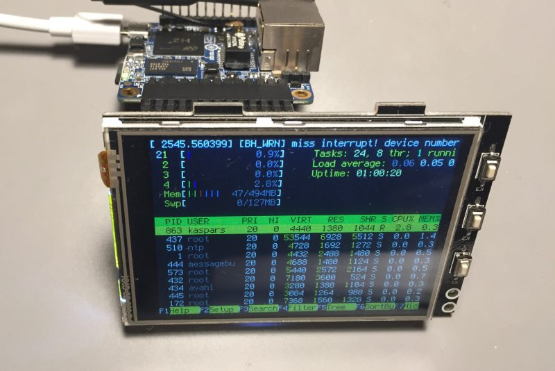 3.2″ TFT LCD Display for Orange Pi Zero Over SPI