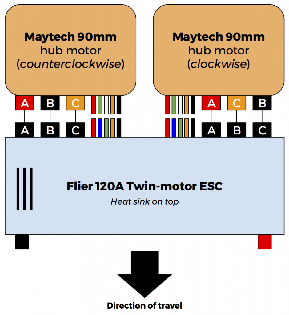 Wiring Maytech Hub Motors To Flier Twin Esc  Electronics