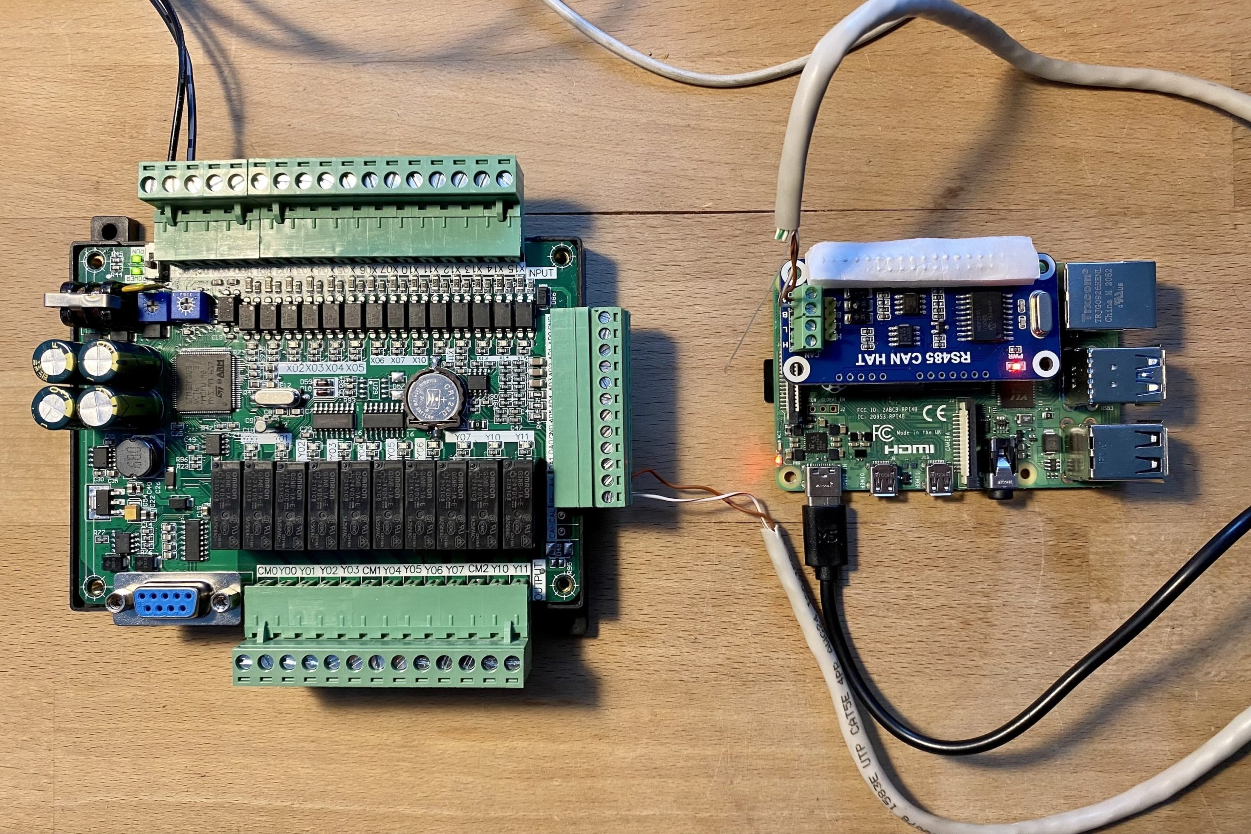 Raspberry Pi connected to Lollette LE3U